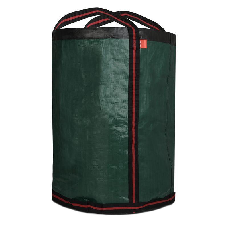 Laubsack für Gartenabfälle mit 275 Litern Fassungsvermögen, grüner Farbe und stabilen Henkeln