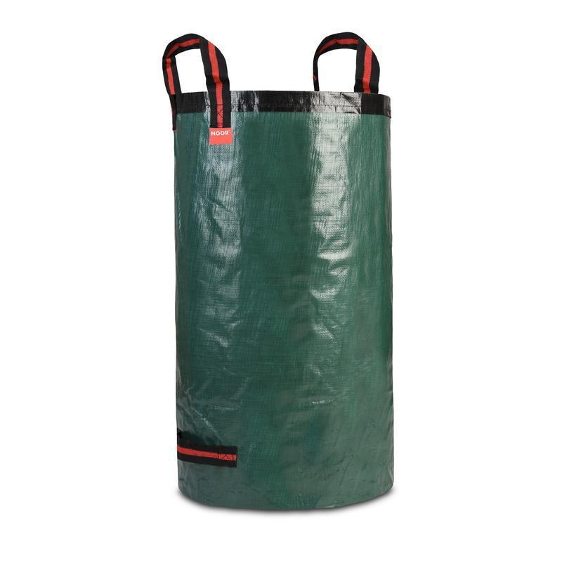 Grüner Gartensack aus stabilem Gewebe für Laubabfälle