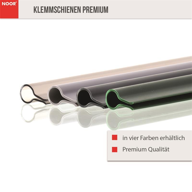 15 Premium Klemmschienen für Sichtschutzstreifen
