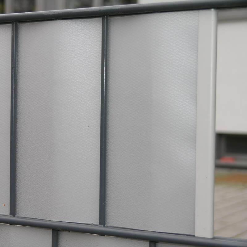 25 Klemmschienen für Sichtschutzstreifen