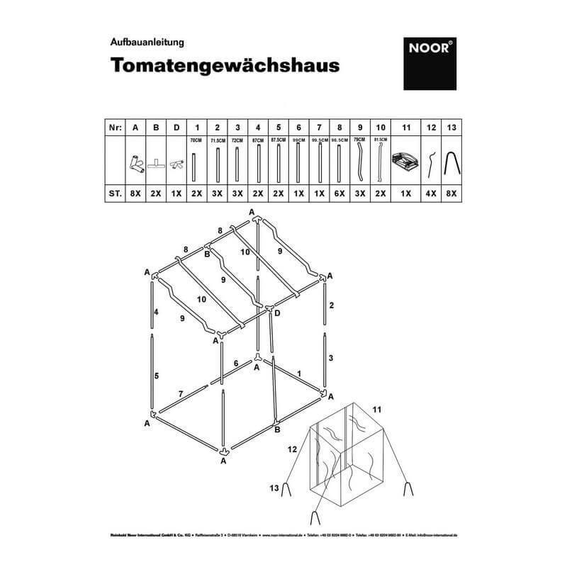 Aufbauanleitung für das Tomatenhaus neues Modell