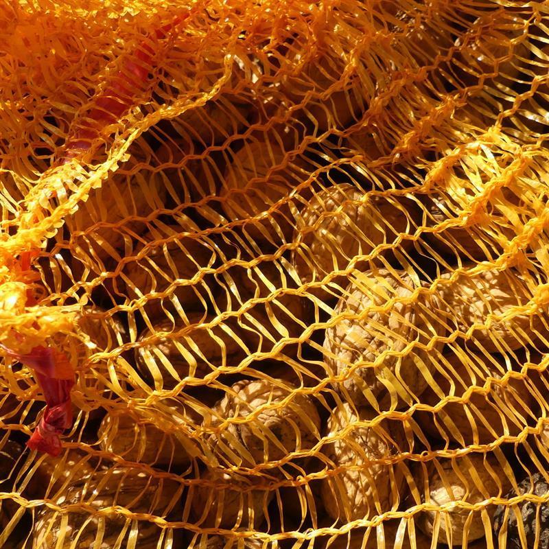 Raschelsäcke goldgelb mit Zugband