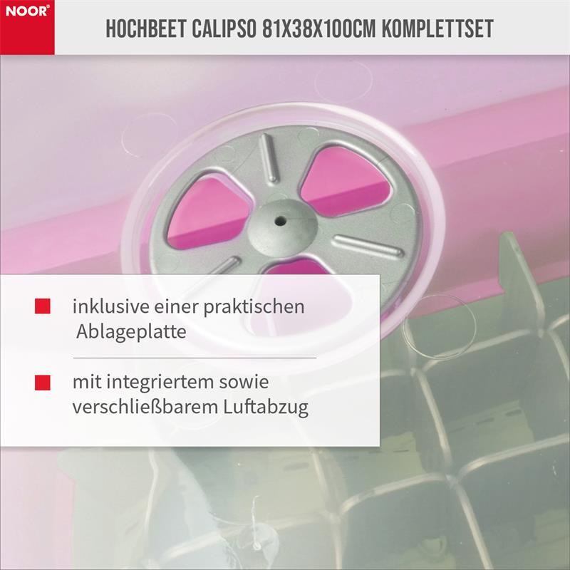 Hochbeet Calipso 81x38x100cm Komplettset mit Haube