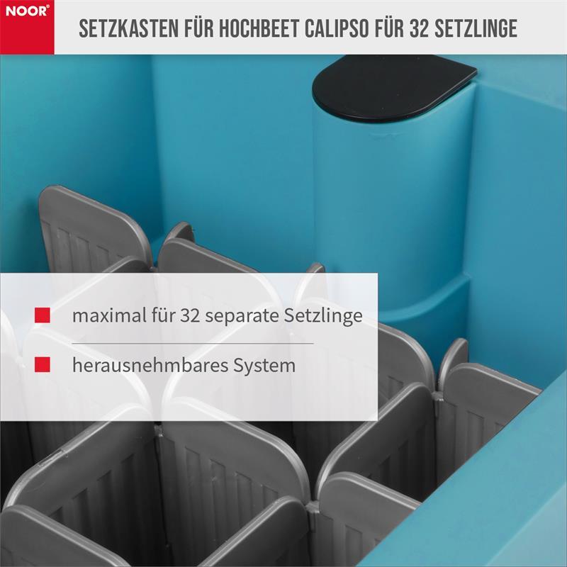 Setzkasten für Hochbeet Calipso für 32 Setzlinge