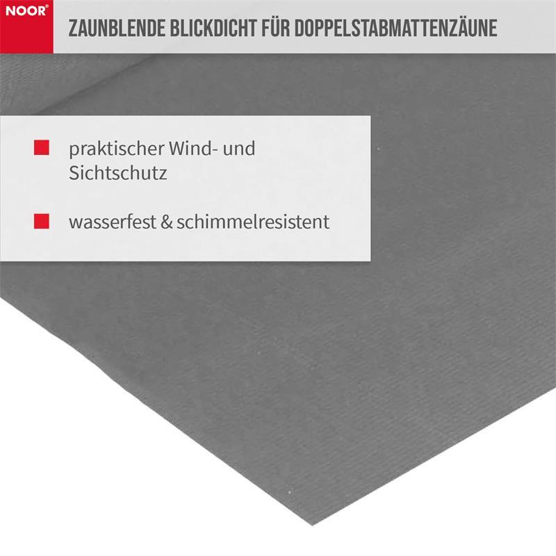Sichtschutzstreifen PVC 0,19x2,55m Zaunblende Hart