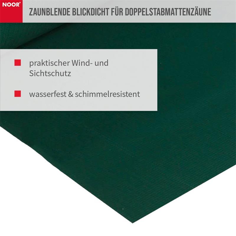 Mit den Sichtschutzstreifen in braun, schwarz, grün, grau, weiß wird der Zaun optisch ein Hingucker