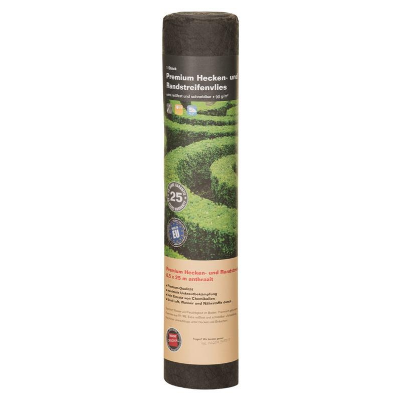 Premium Heckenvlies dunkelgrau 0,5x25 m 90 g/m²