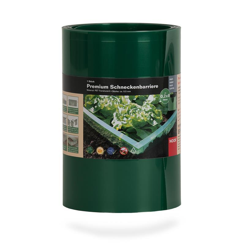 Schneckenbarriere 20 cm x 8 m Doppelfalz grün