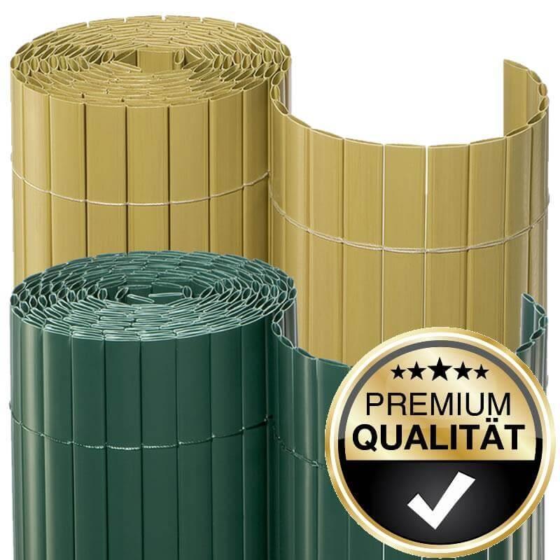 Die Sichtschutzmatten PVC 2te Wahl sind mit kleinen Mängeln behaftet und deshalb besonders preiswert.