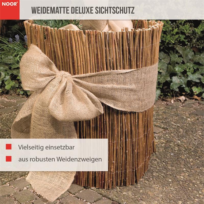 Weidenmatte Deluxe Sichtschutz Weide Weidematte