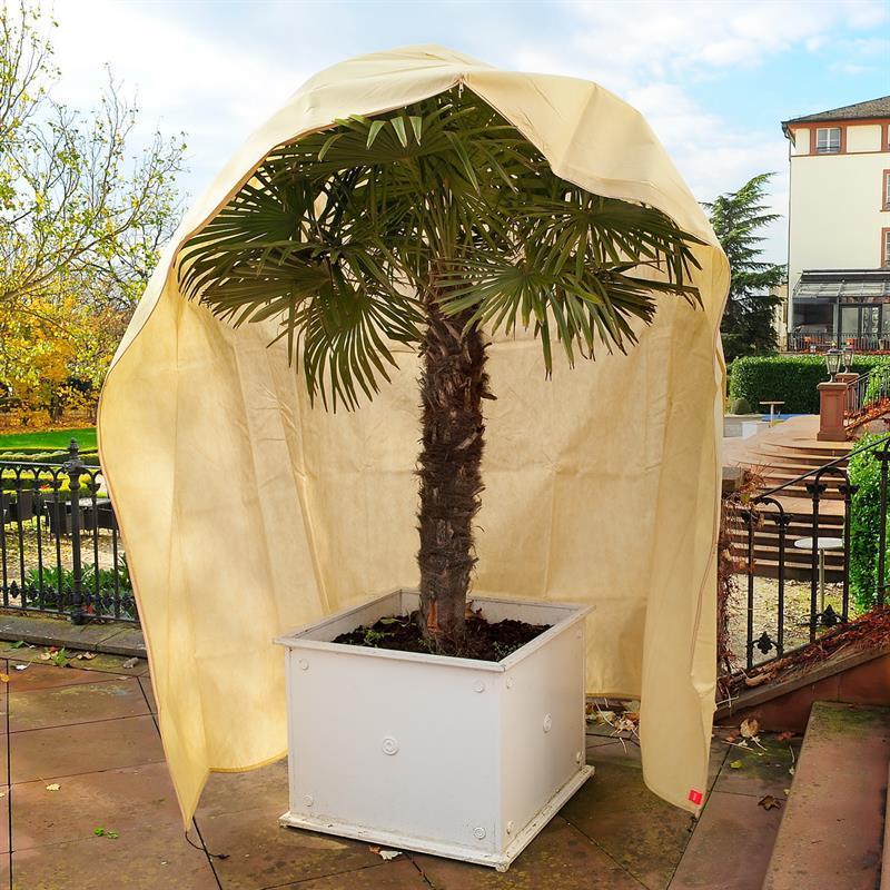 Die extra große Winterschutzhaube ist für sehr große und breite Pflanzen geeignet um den Winter zu überstehen.