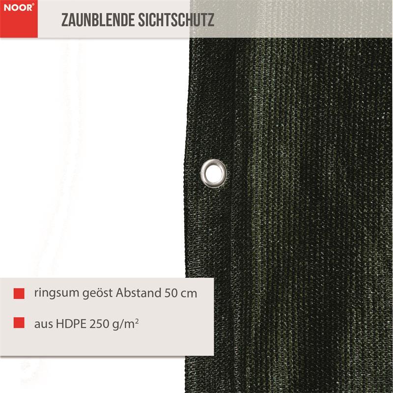 Zaunblende Sichschutz Profiware grün 250g/m² geöst