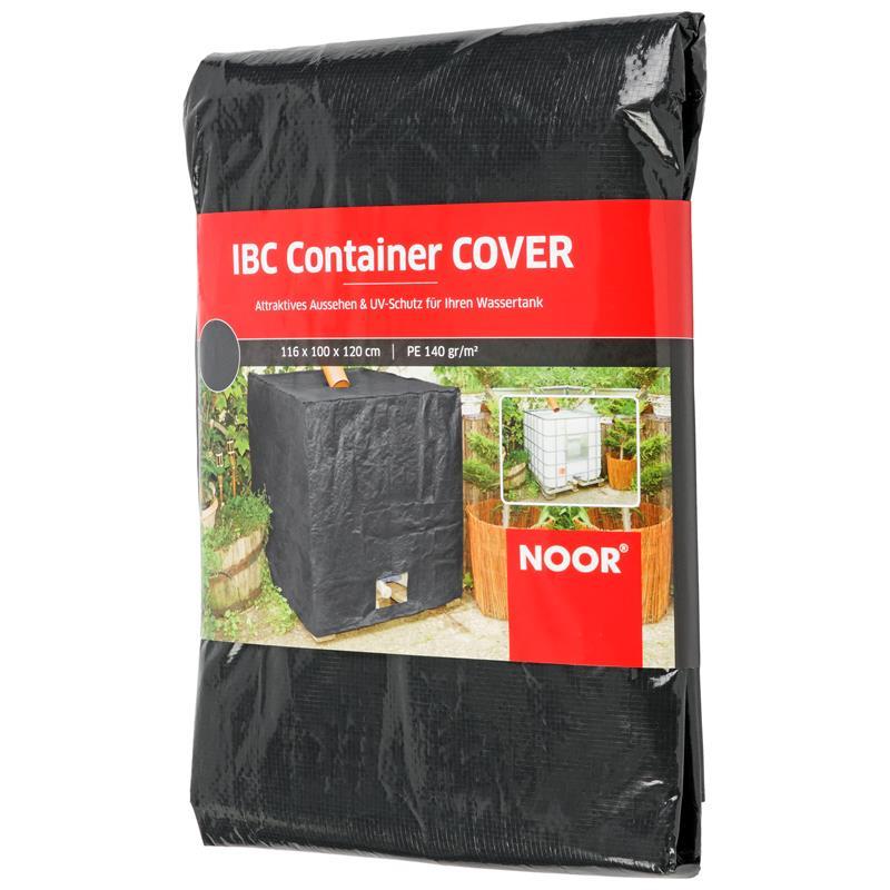 IBC Container bis 1000 Liter können mit dieser Abdeckung verkleidet werden.