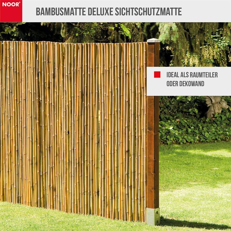 Bambusmatte Deluxe Sichtschutzmatte Ø ca. 20-35 mm