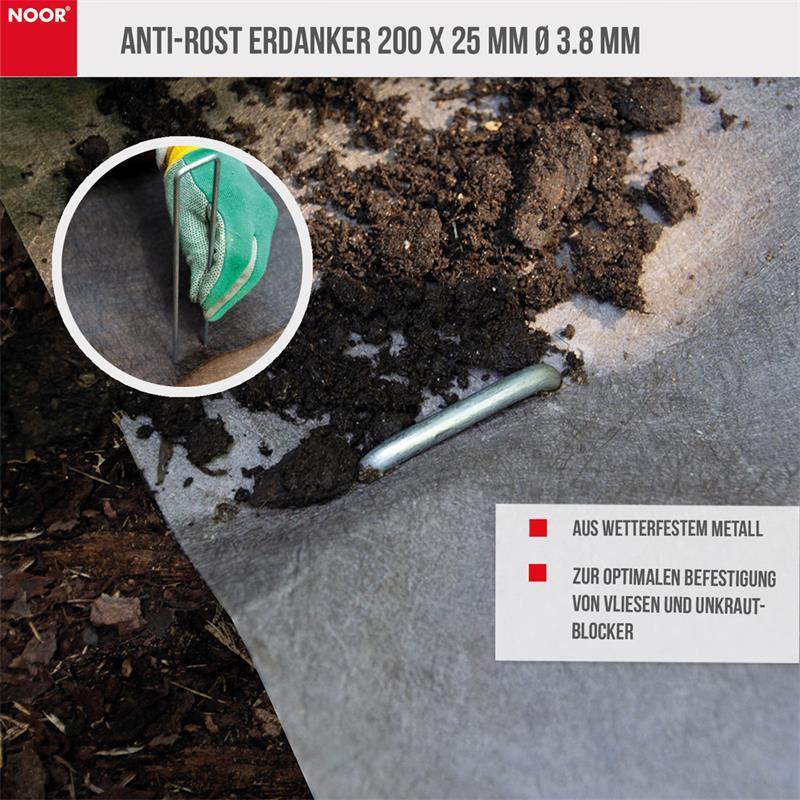 Anti-ROST Erdanker 200x25mm Ø 3.8 MM Heringe