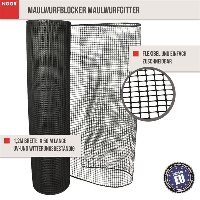 Maulwurfblocker Maulwurfgitter 1,2x50m 320 g/m²