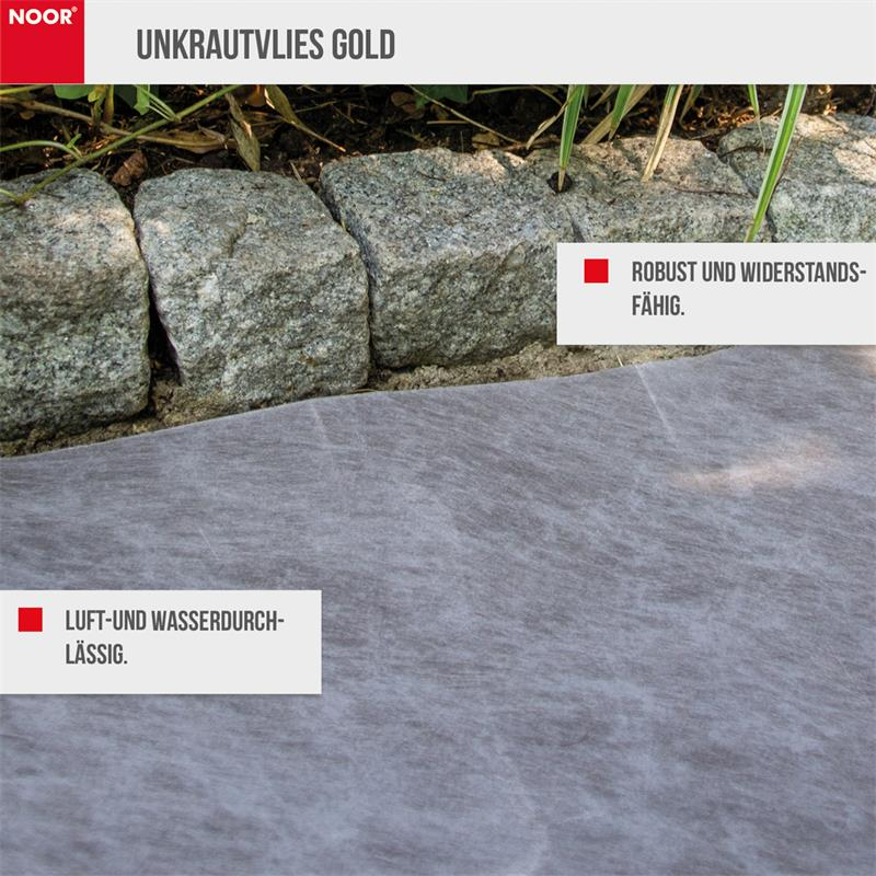 Unkrautvlies GOLD PES/PP 125 g/m² Made in Germany