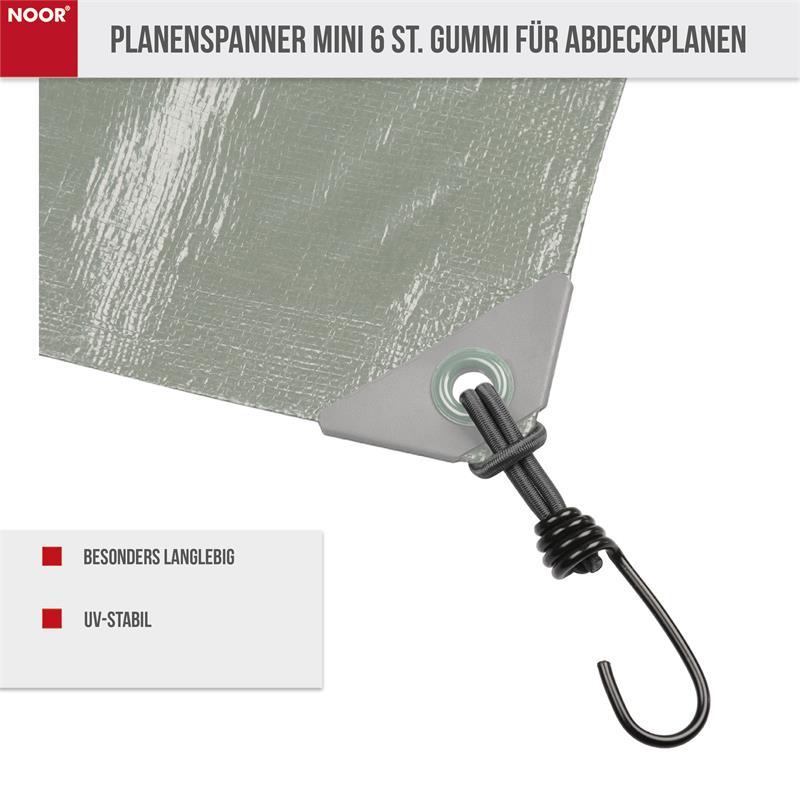 Planenspanner Mini 6 St. Gummi für Abdeckplanen