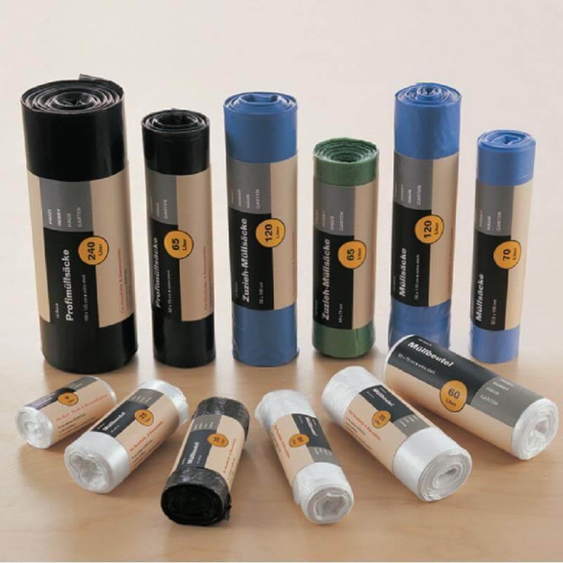 Verschiedene Größen Mülltoten 120 Liter 60 Liter 25 Liter mit dem blauen Umweltengel